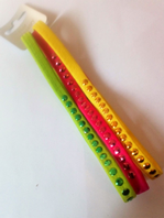 Pack of 3 XXL bright elastics (Code 3072)